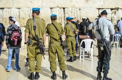 Soldiers in Jerusalem Stock Photography